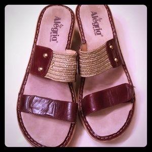 Alegria Wedge Sandal (Size 41/US 11)